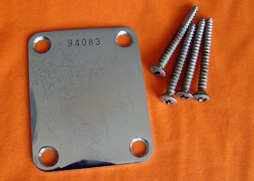 VINTAGE FOUR BOLT KNECK PLATES  We have various years. Tell us what year you require or what serial number range and we can also supply sets of vintage screws if needed. All show genuine light to medium wear.  Price: POA