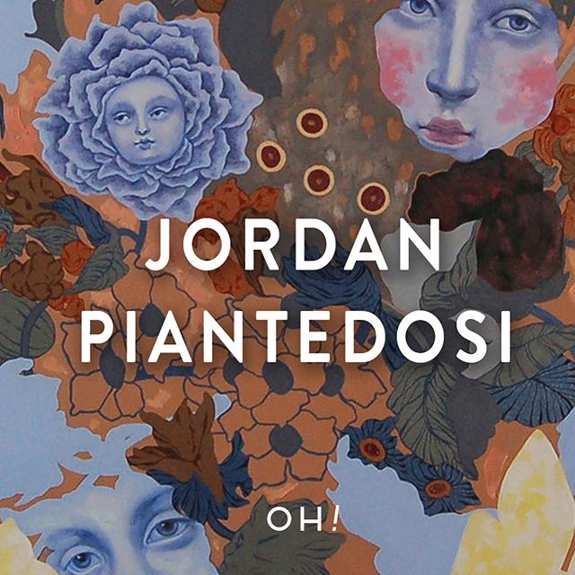 """(2/3) Jordan's maniacal work explores humor, glamor, and adventure, with a brazen & campy ethos inspired by underground comics, high fashion, anime, video games, drag queens, biology & particle physics, top 40 hip-hop, and late nights endlessly browsing memes, nursing an entire jar of teddy peanut butter. #galleryoh . . Lemon Tree, 2018 Acrylic on Panel 30"""" x 30"""" . Bouquet I, 2018 Oil on Canvas 36"""" x 36"""" . Bouquet II, 2018 Oil on Canvas 36"""" x 36"""" 2018"""