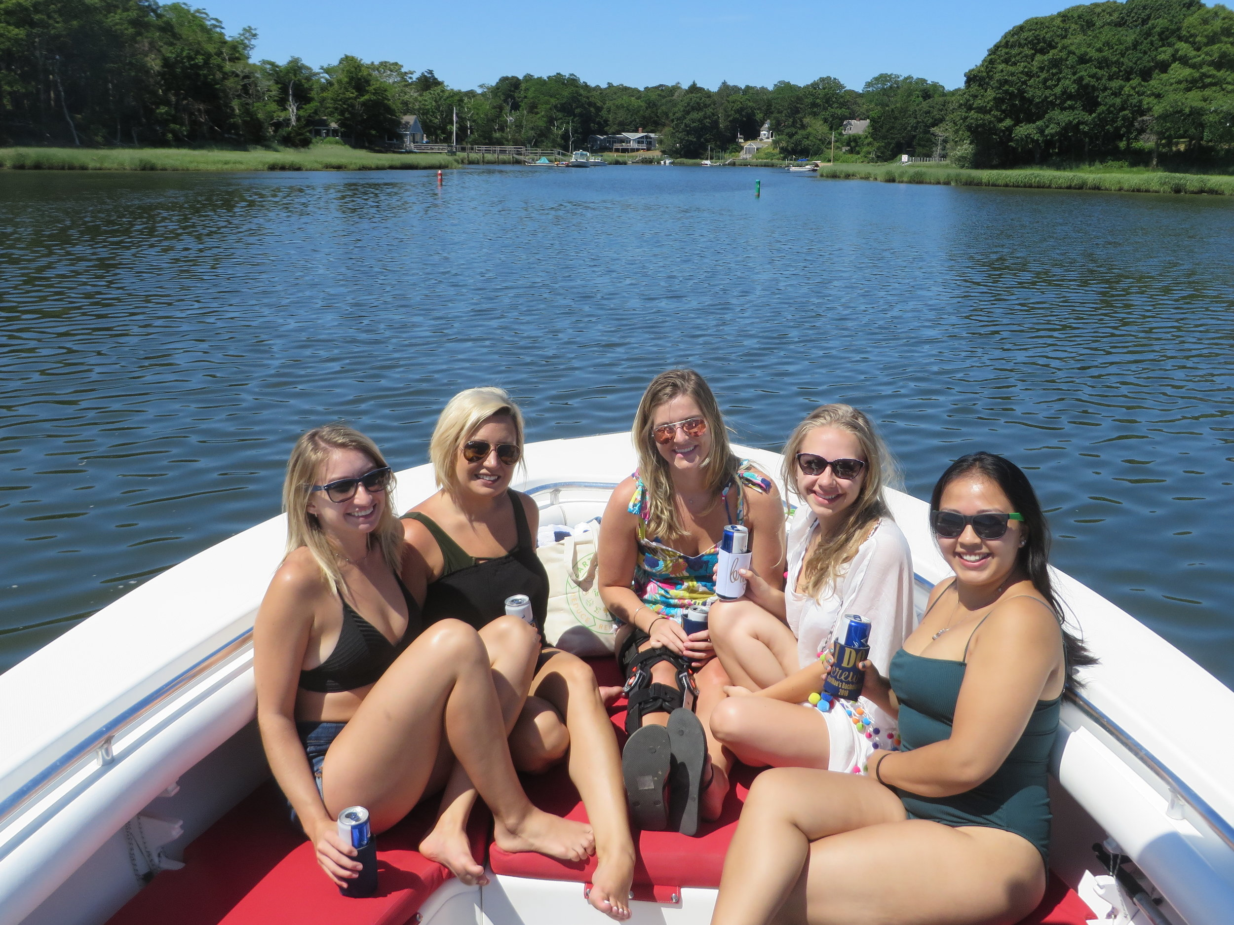 Julia and friends enjoy a perfect bachelorette get together.