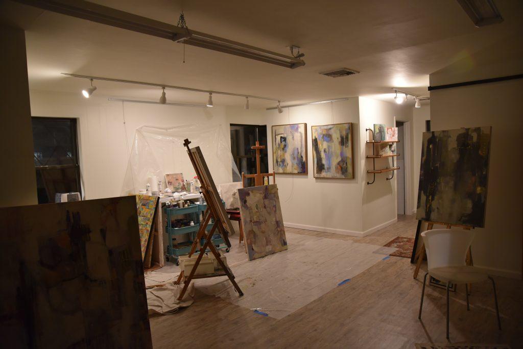 marcia-reich-painter studio-at-night-chatham-new-jersey.jpg