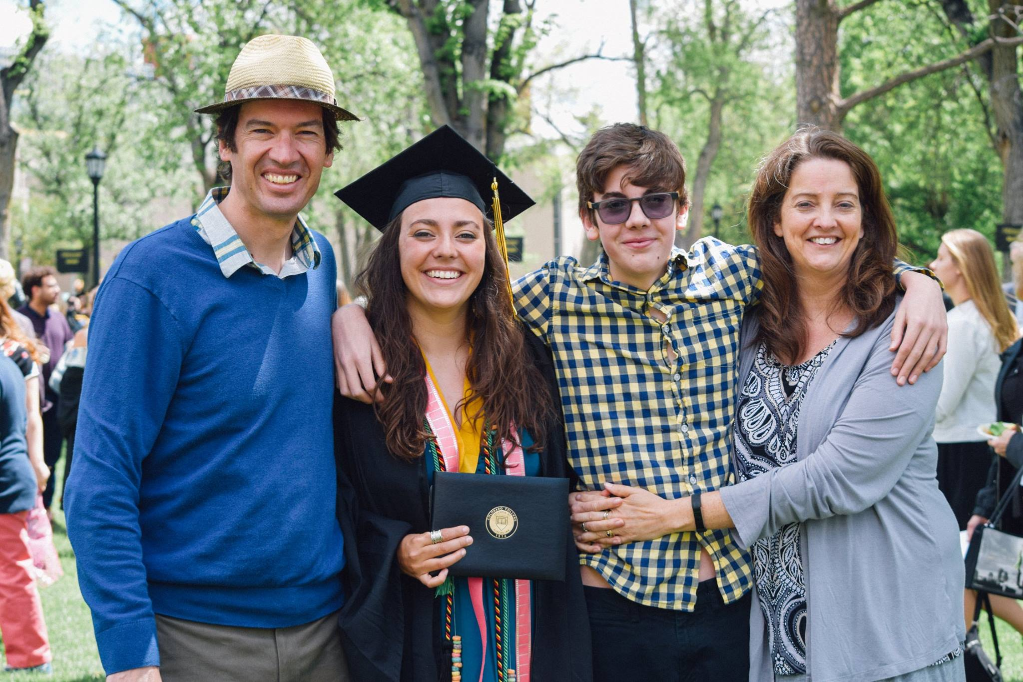 Sophie, my oldest, graduating from college. And there's the son who doesn't yet know what he's in for!