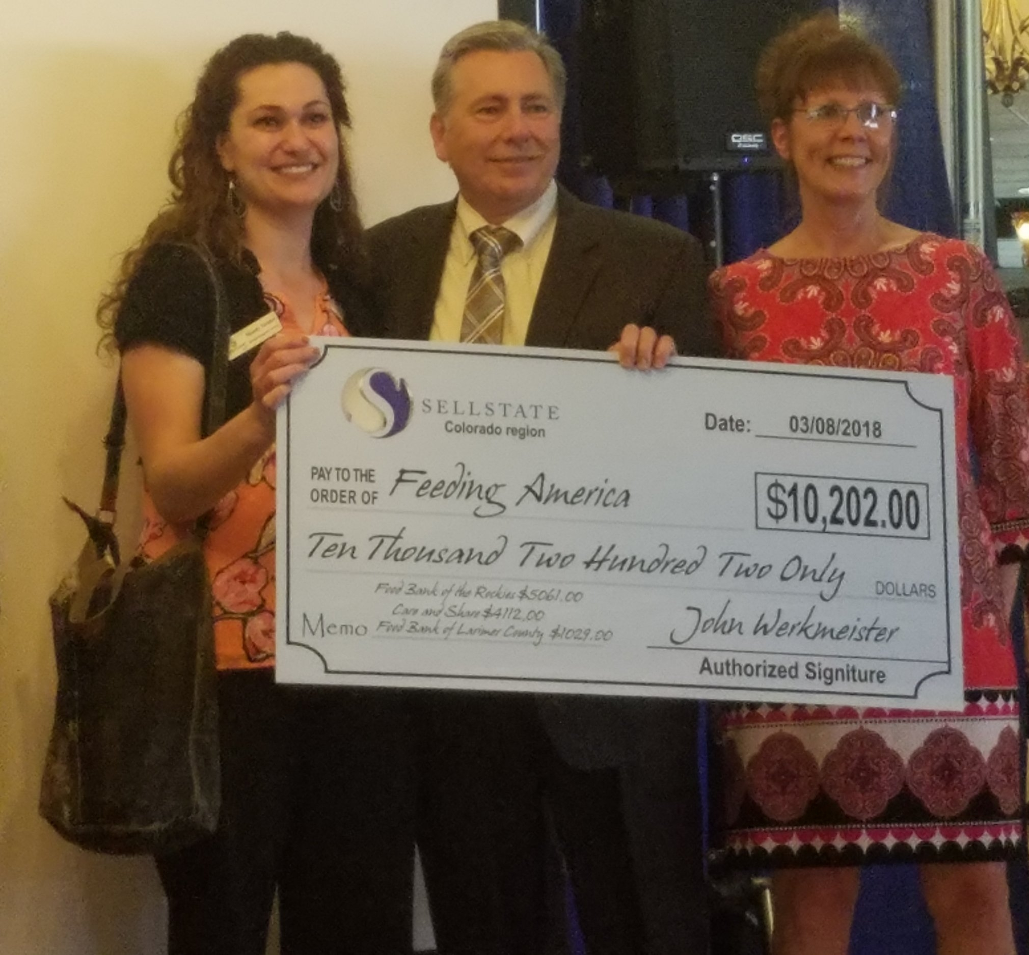 Sellstate Alliance Realty - Giving Back Check