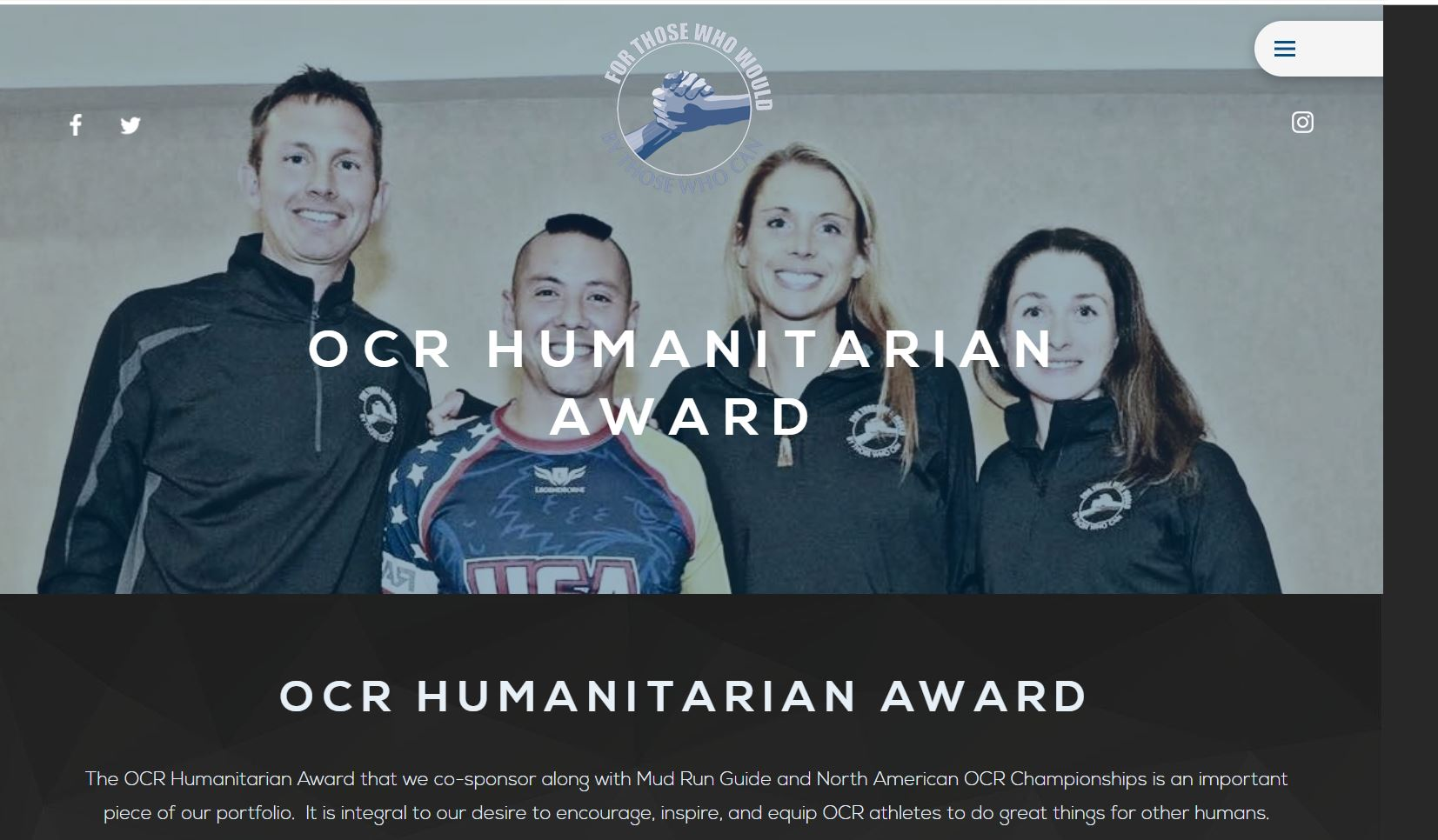 Our Broker/Owner Carrie Lukins is a nominee finalist to win the 2019 OCR Humanitarian Award!