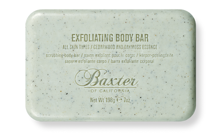 Baxter of California  Exfoliating Body Bar, $18.00