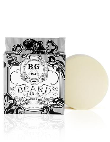 Brooklyn Grooming  Beard Soap, 3.5 oz., $18.00