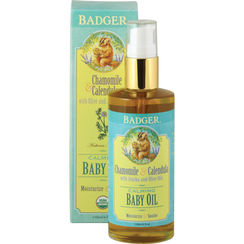 Badger  Calming Baby Oil with Chamomile & Calendula,4 oz. $16.00