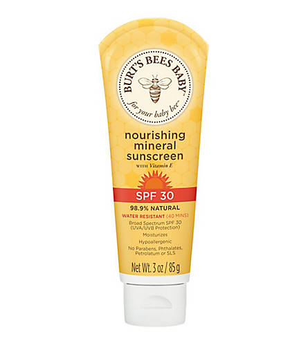 Burt's Bees Baby  Nourishing Mineral Sunscreen, 3 oz. $15.00