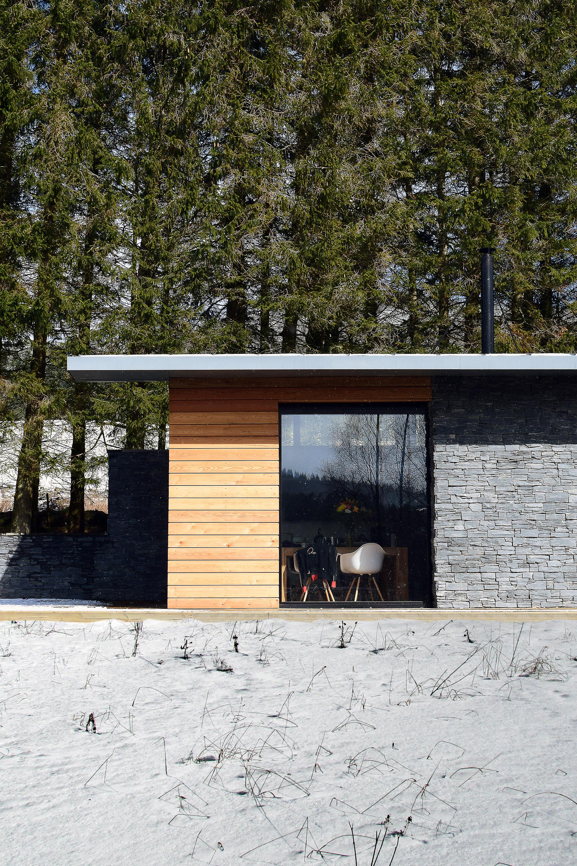 strathdon, house, timber, glass, award-winning, scotland, cairngorms, landscape, trees