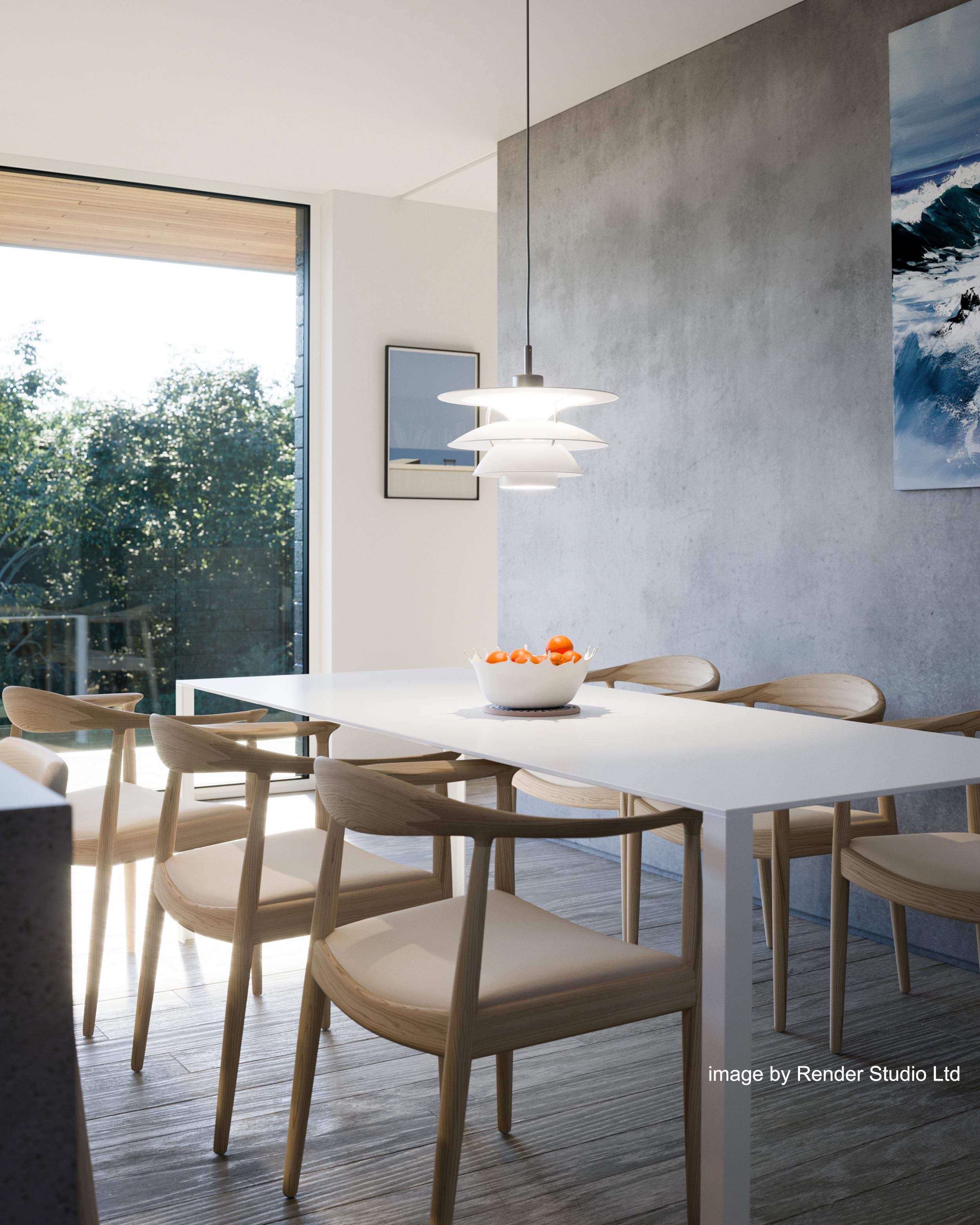 dining, concrete, light, scotland, view