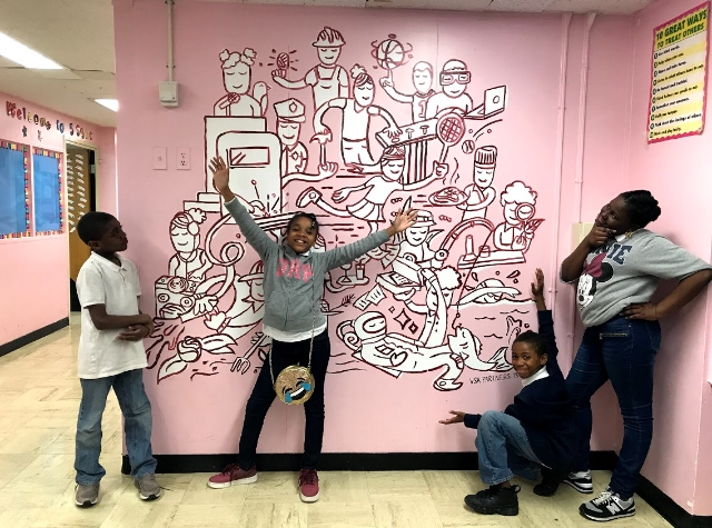 Murals that WOW! - Artists and graphic designers can conceptualize eclectic imagery that will spruce up your facilities while inspiring and elevating your student body.