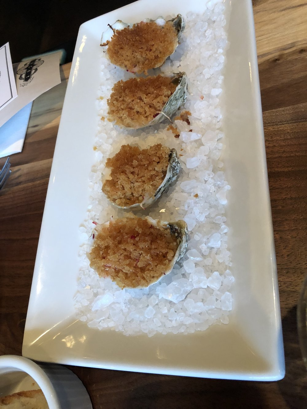 Oysters Rockefeller at Lucky's Roanoke