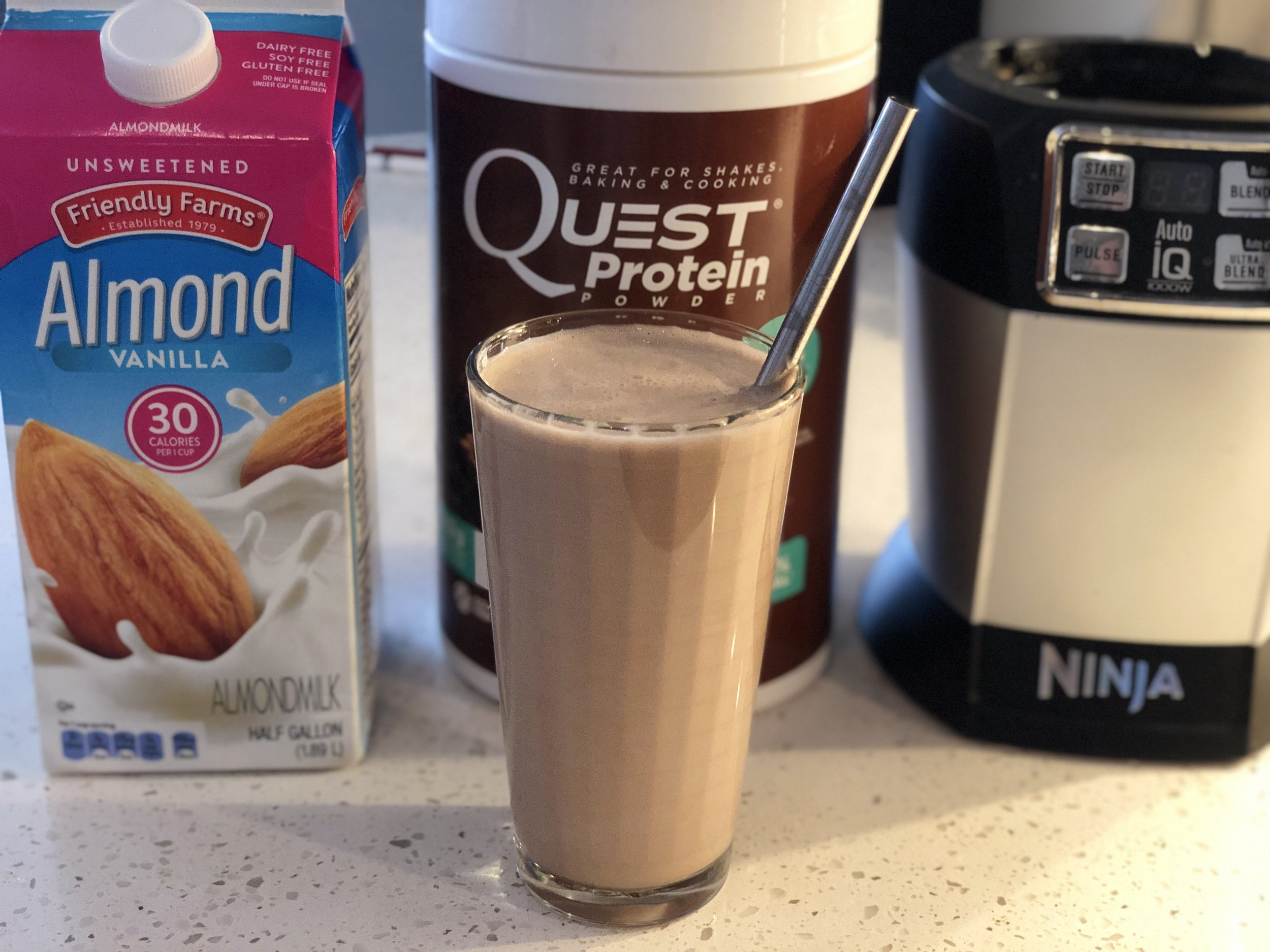 Chocolate Shake Smoothie with Nutri Ninja Quest and Aldi.jpg