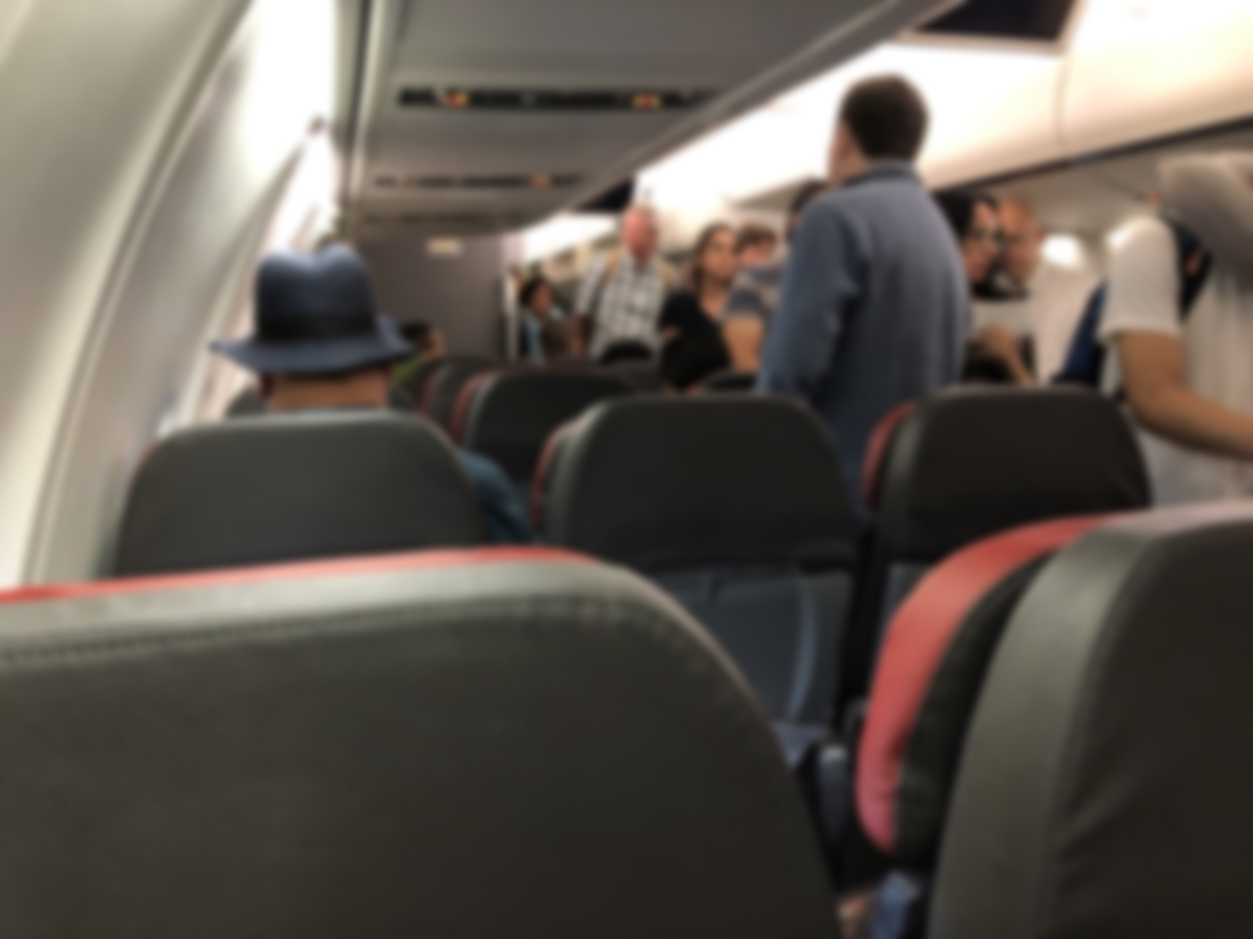 Passengers board delayed American Airlines flight