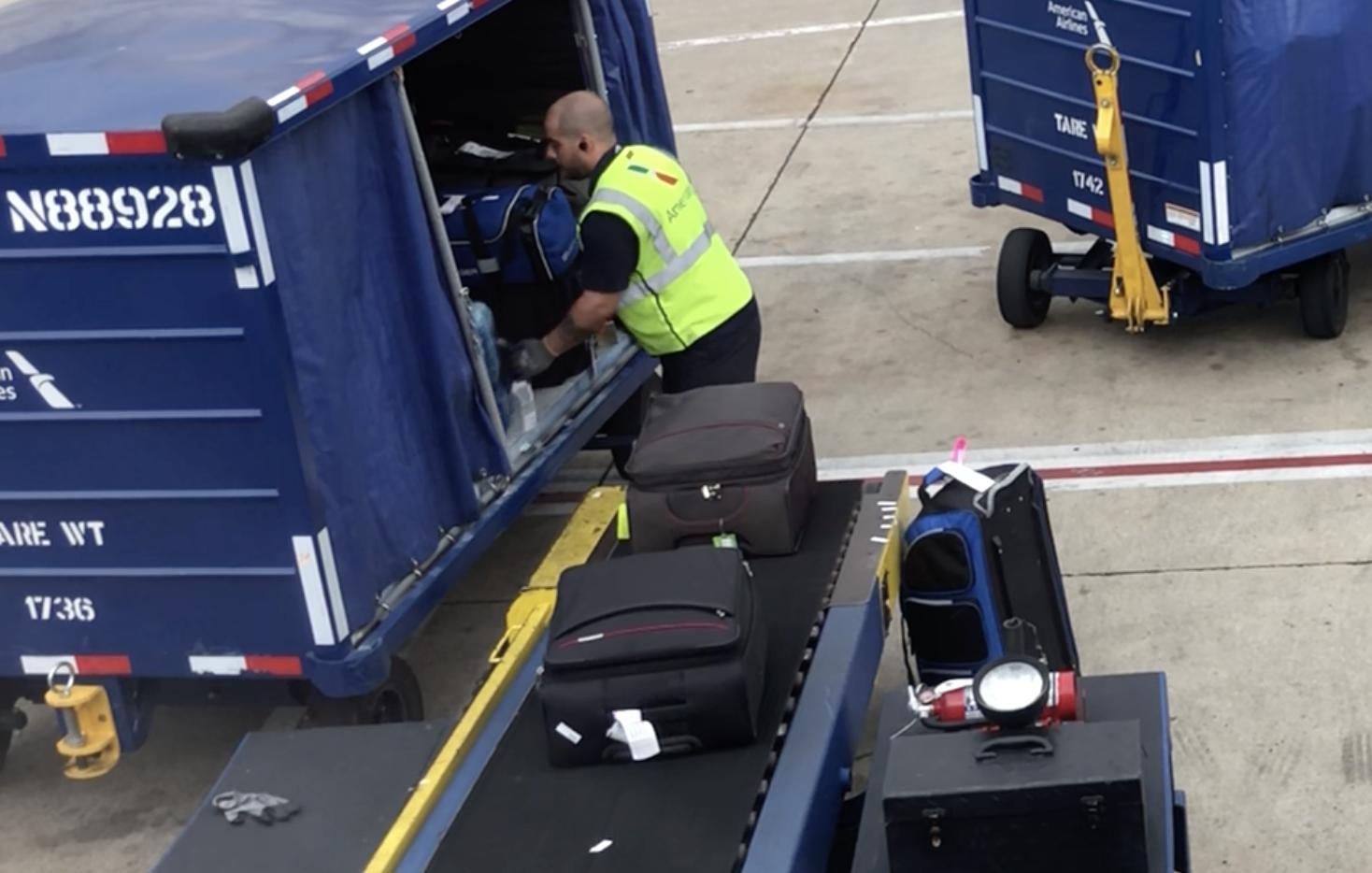 American Airlines Baggage Handler