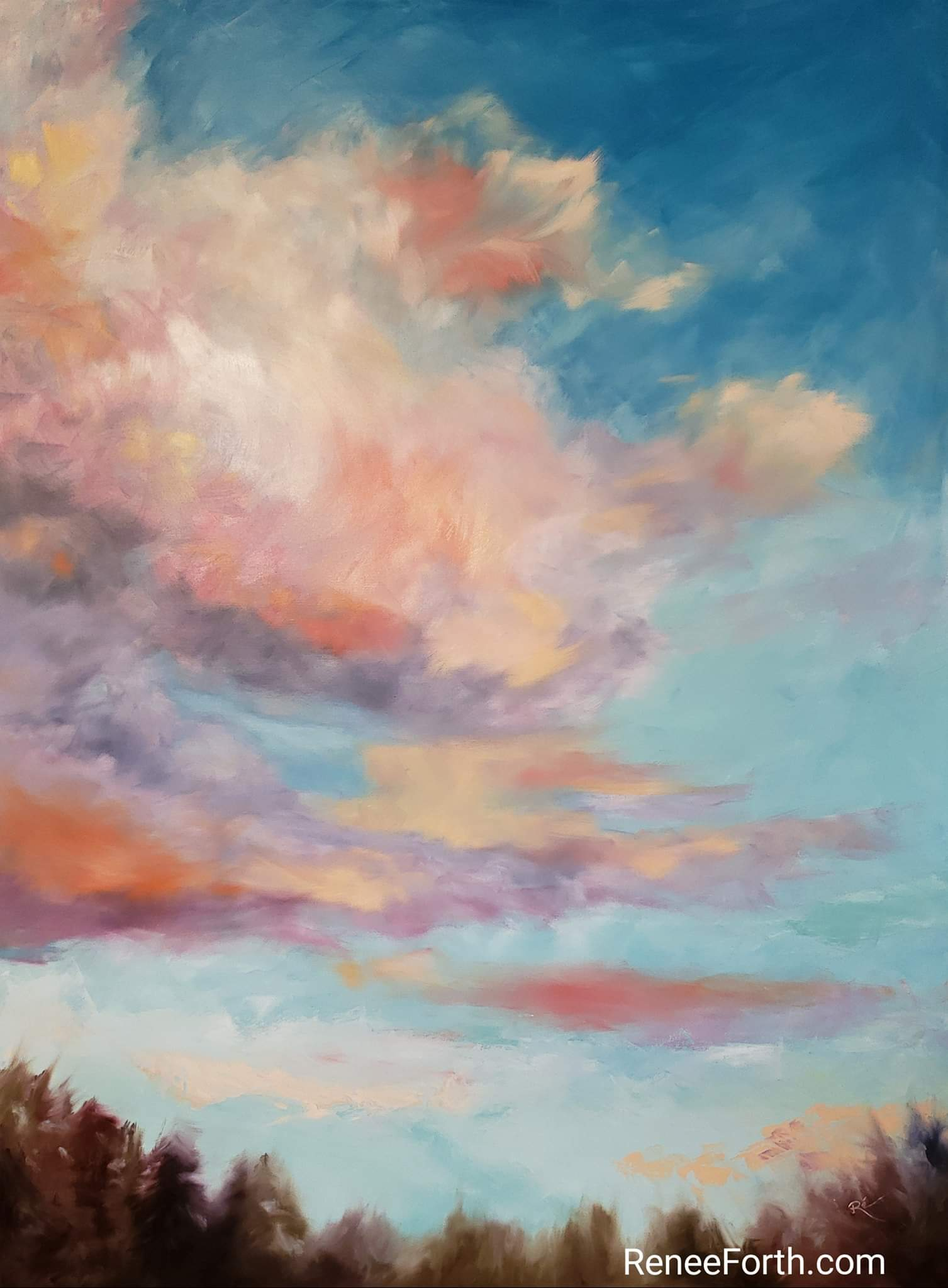 "Summer Glory, oil on canvas, 48"" x 36"" x 1.5"""