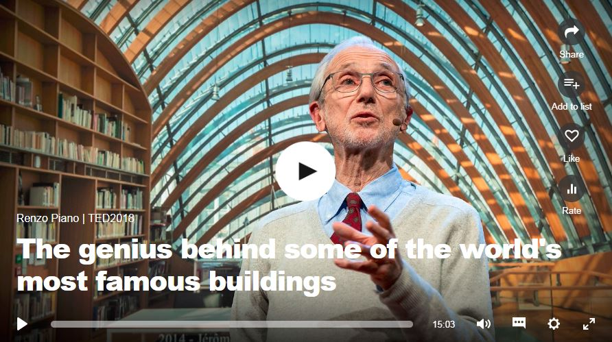 The genius behind some of the world's most famous buildings - Renzo Piano, 2018