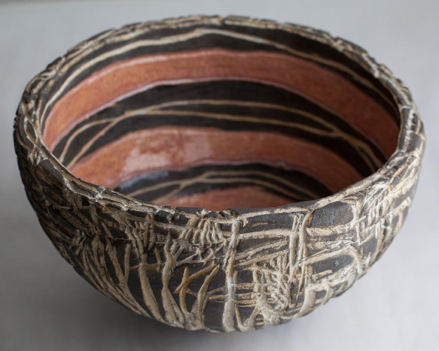 Carved Pink Bowl