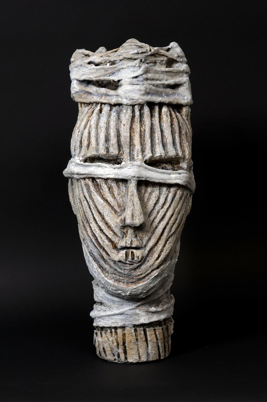 White Wrapped Head