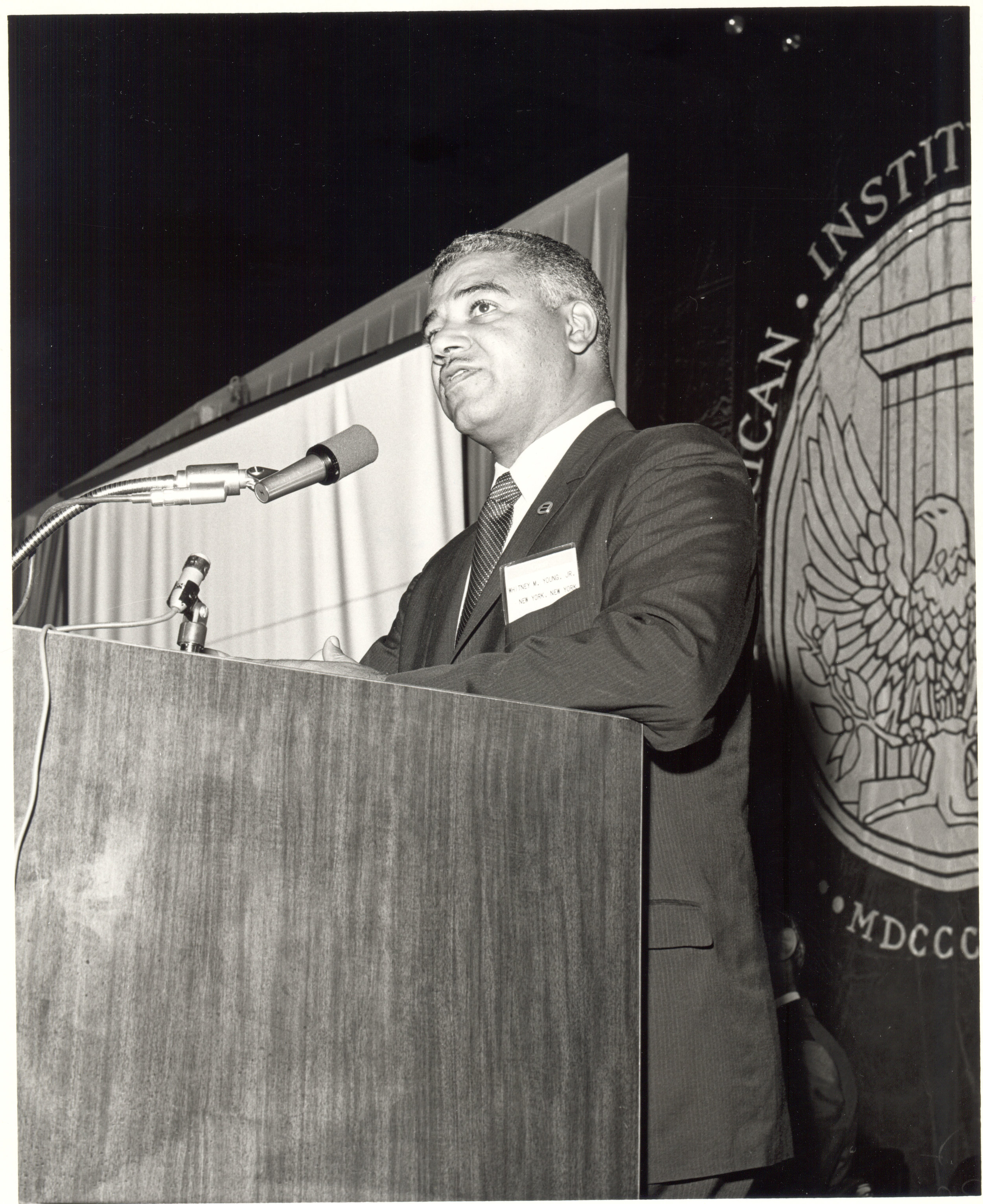 Whitney Young Jr. Speaking to AIA National Convention, The American Institute of Architects Archive, Washington D.C., 1968