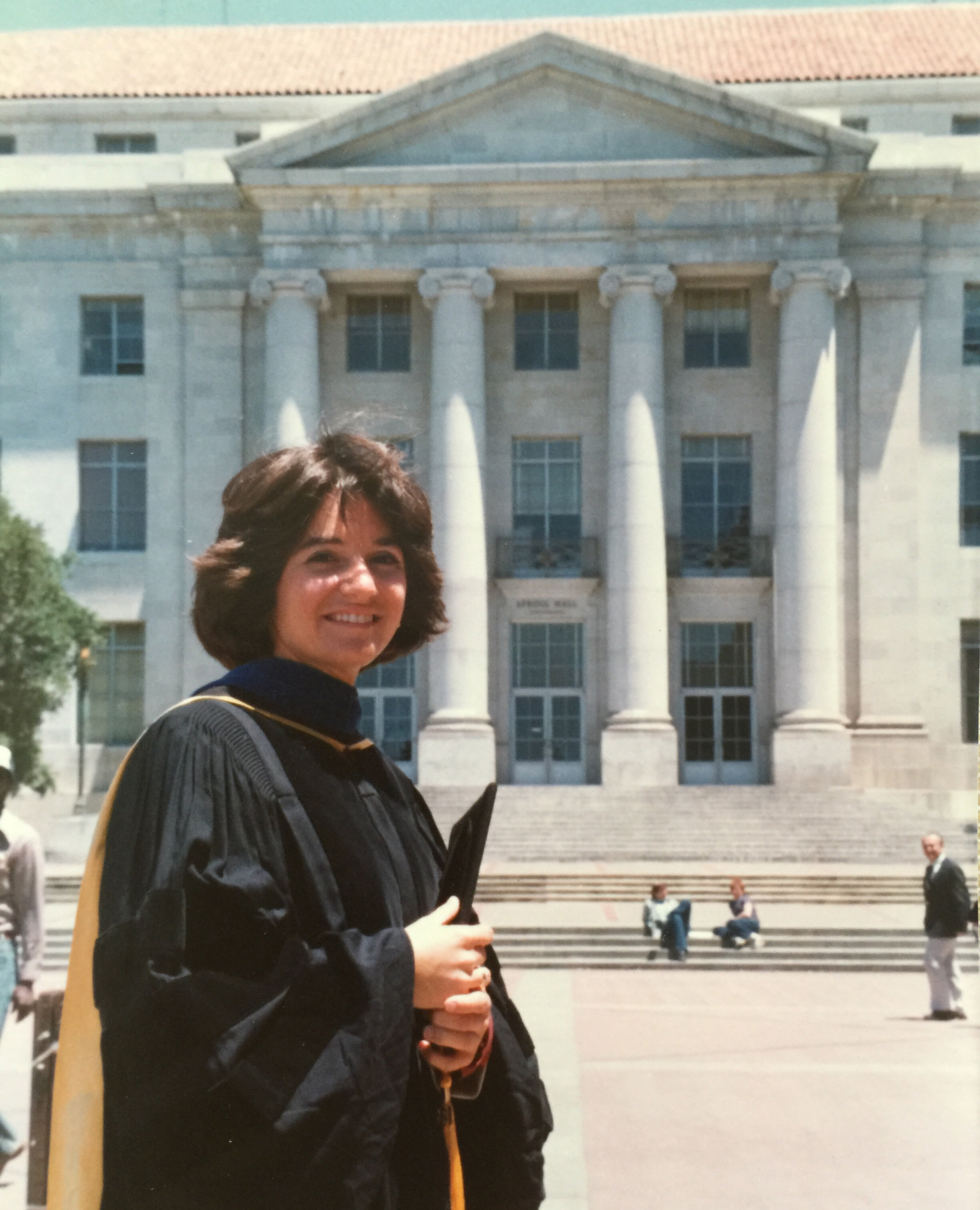 Kathryn Anthony's 1981 Ph.D. graduation at the University of California at Berkeley.