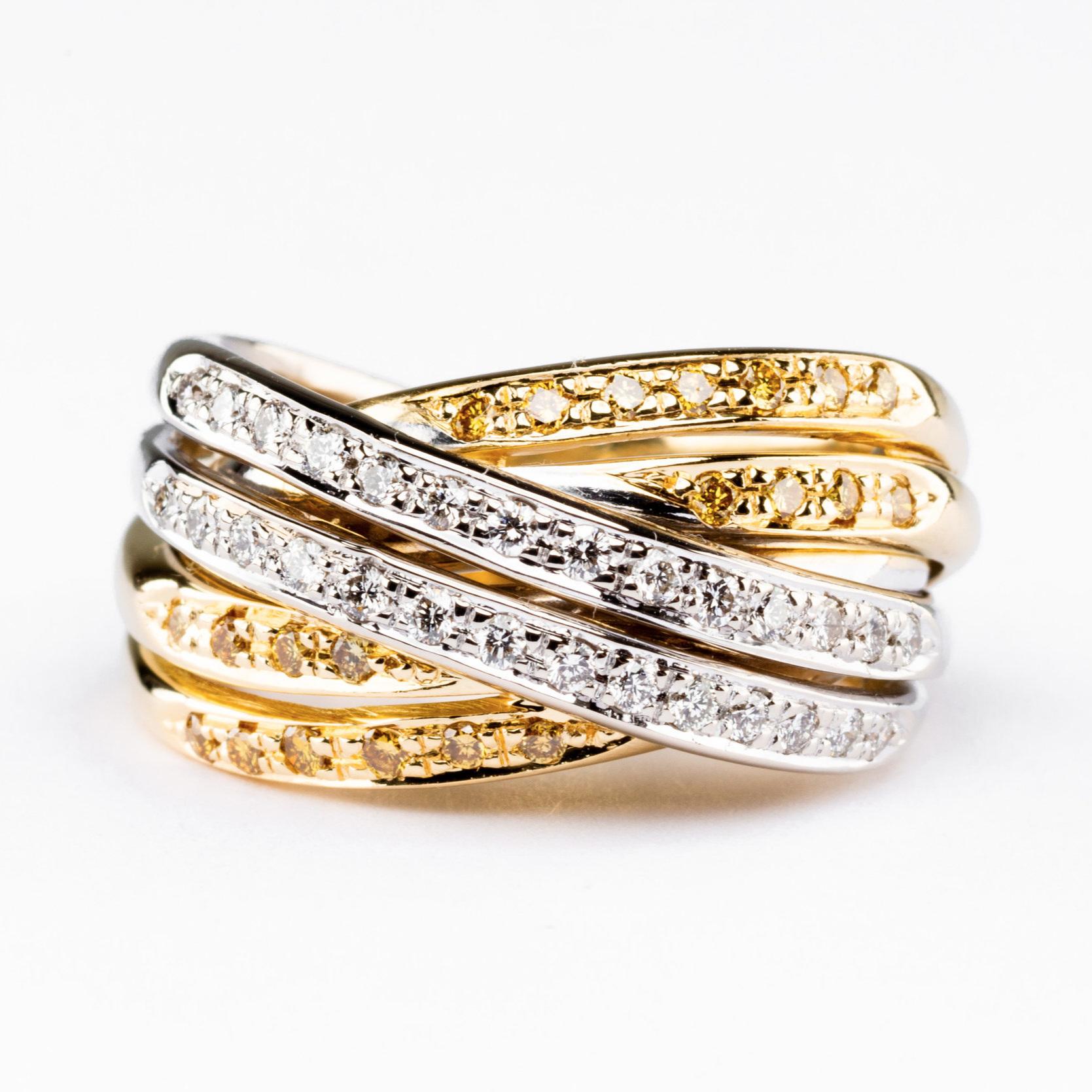 Gold & Silver Diamond Ring