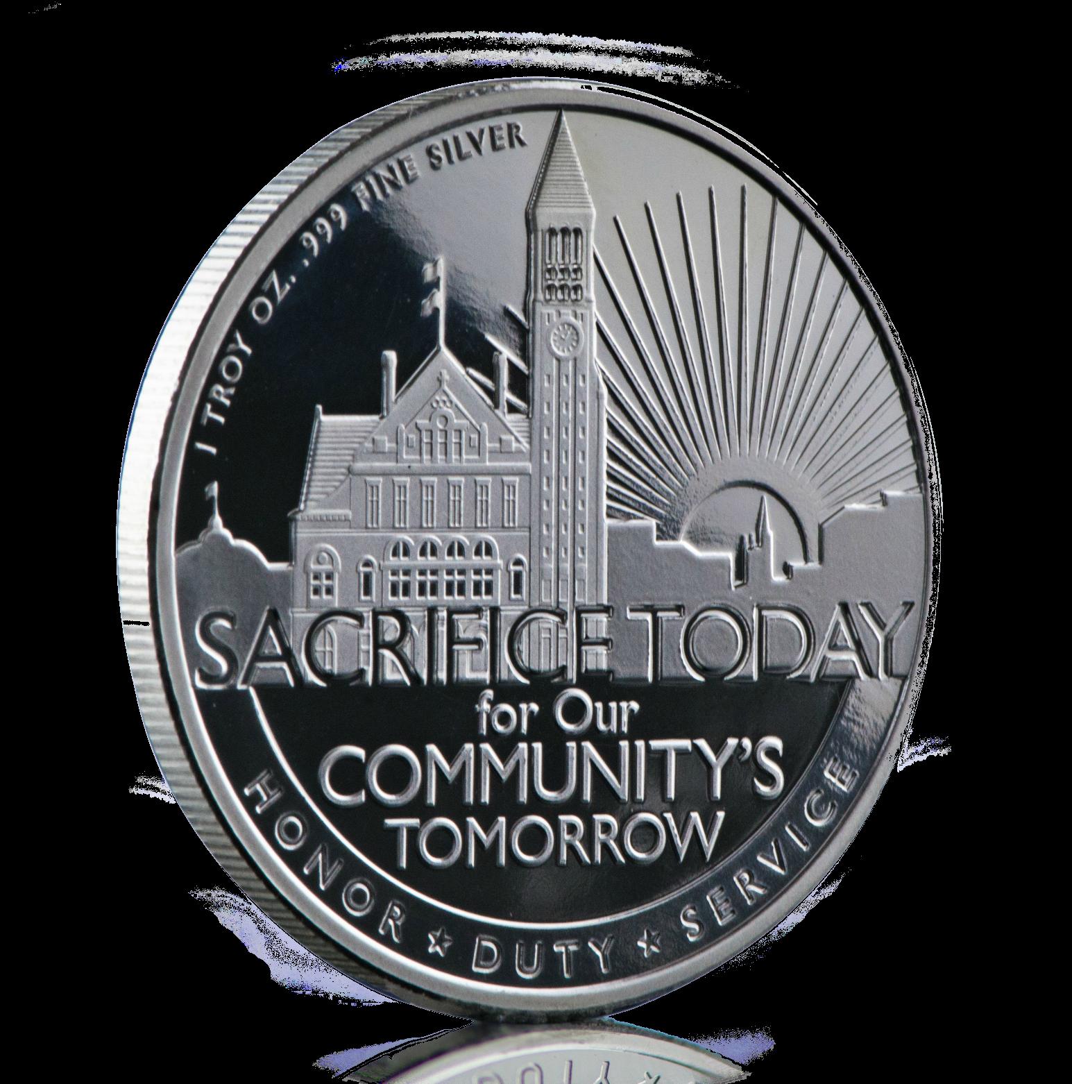 Henry Johnson Silver Medal Reverse