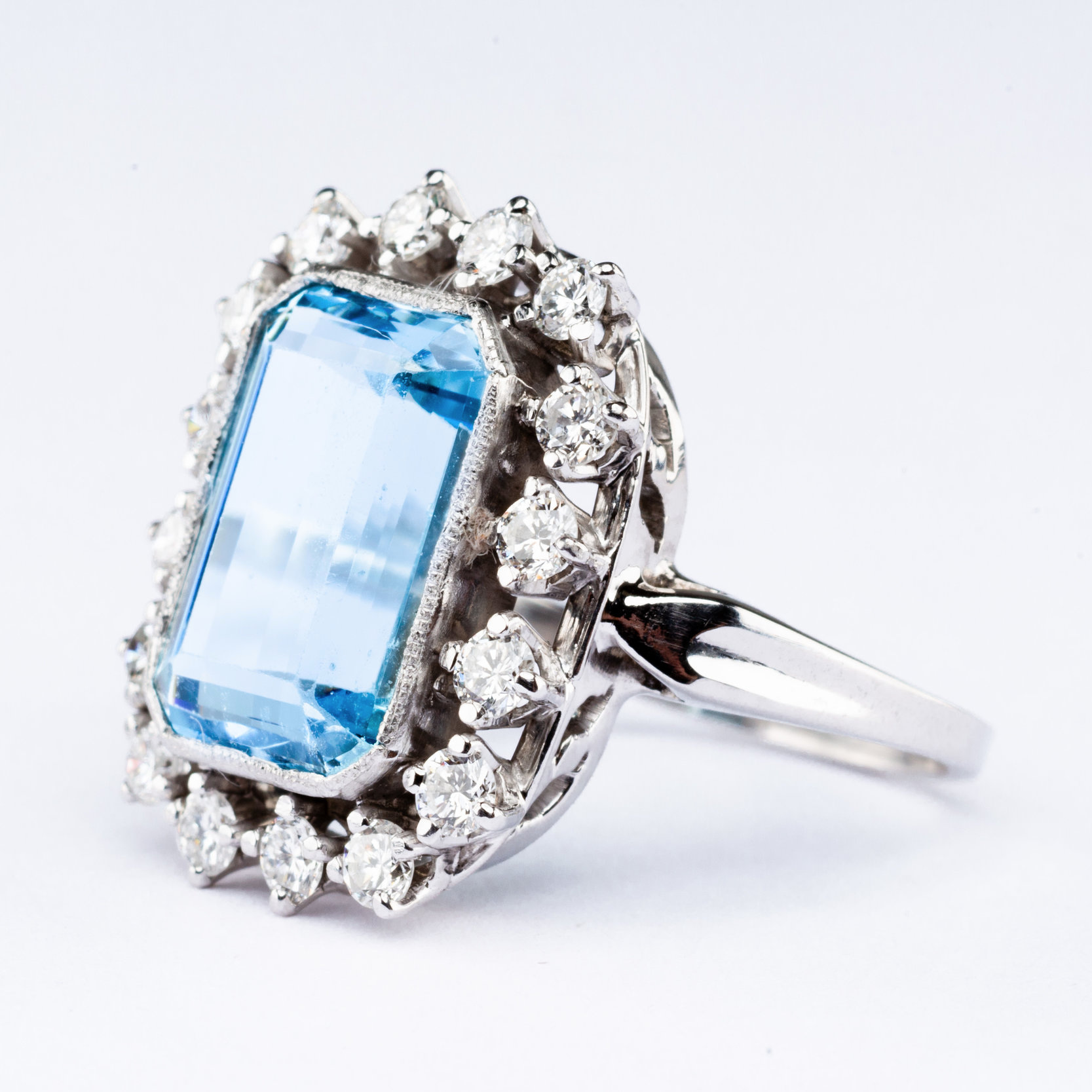 Light Blue Stone Silver RIng