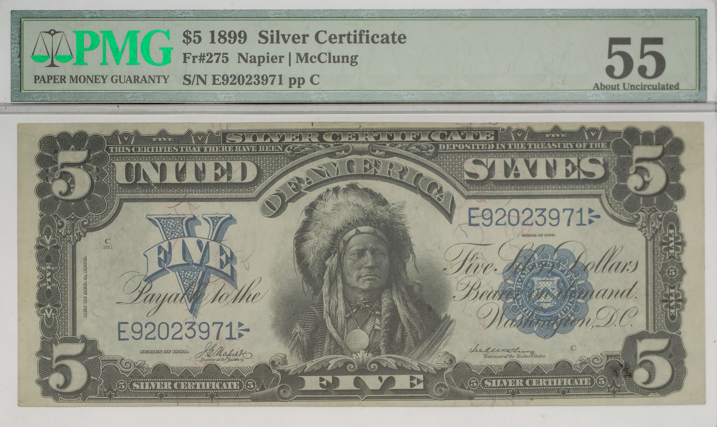 $5 Silver Certificate (Native American Wearing Headress)