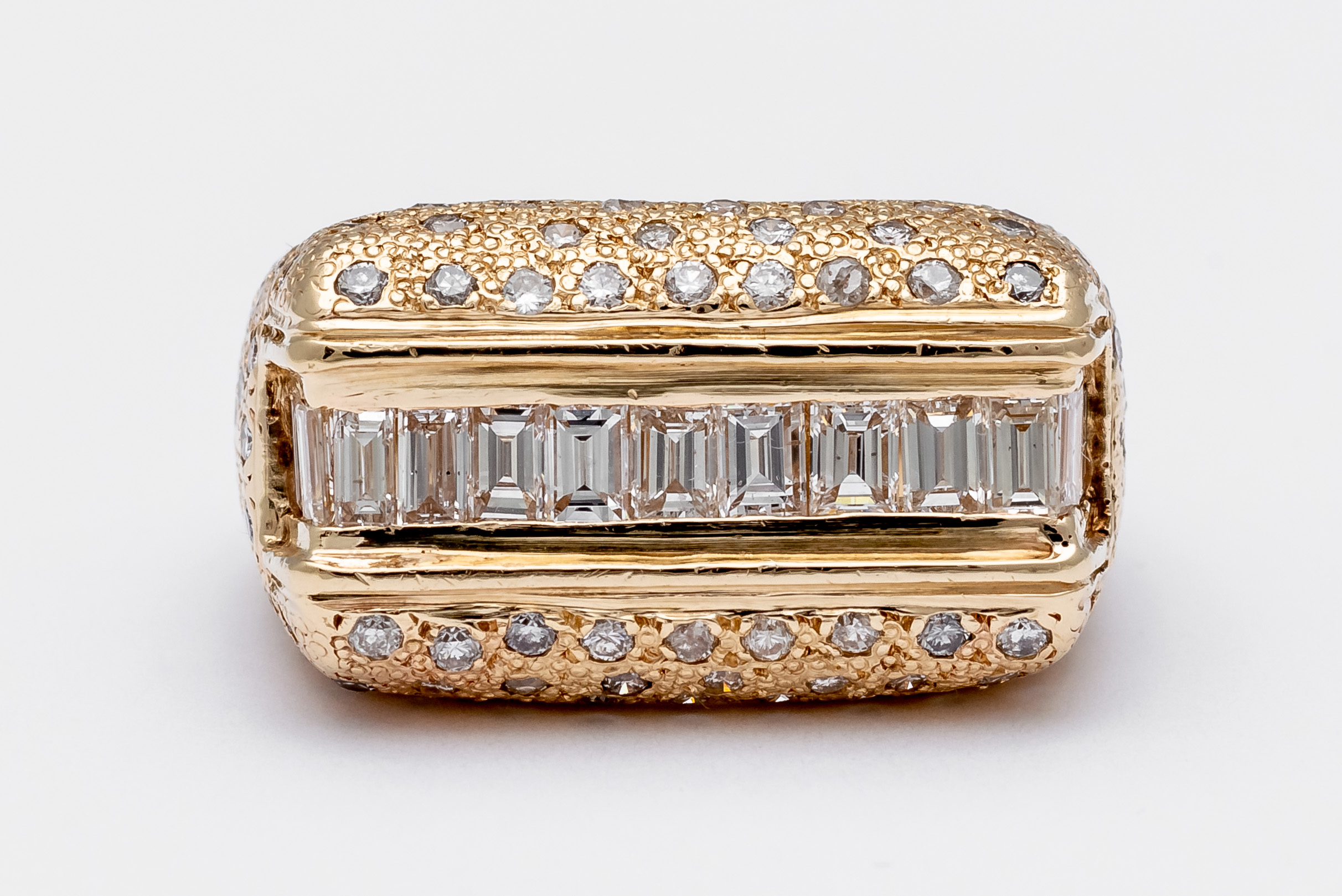 Men's Gold + Diamond Ring