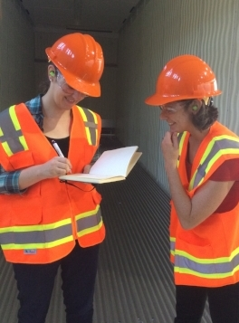 Teachers visiting a construction site as part of their externship experience