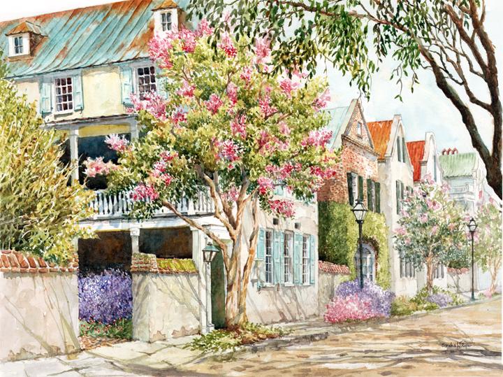 Sunlit Streets of Charleston