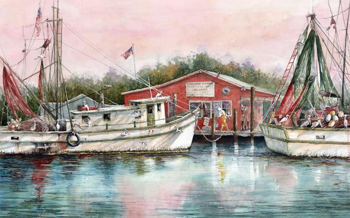 Docking at Shem Creek