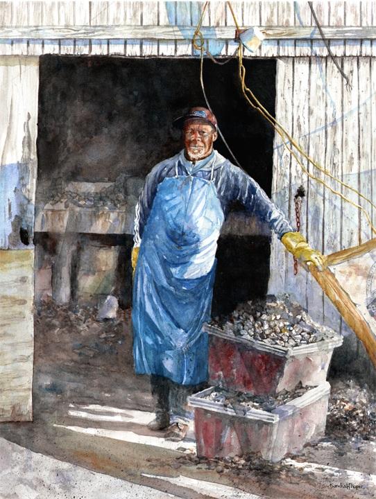 Portrait Of An Oyster Shucker