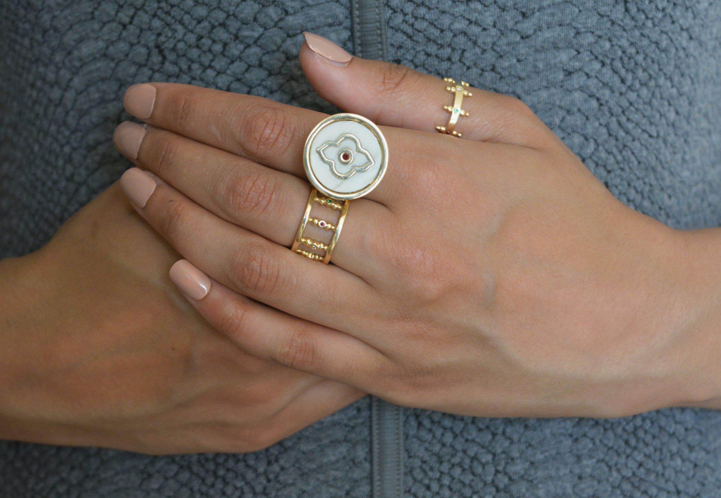Humaiyra arabesque ring