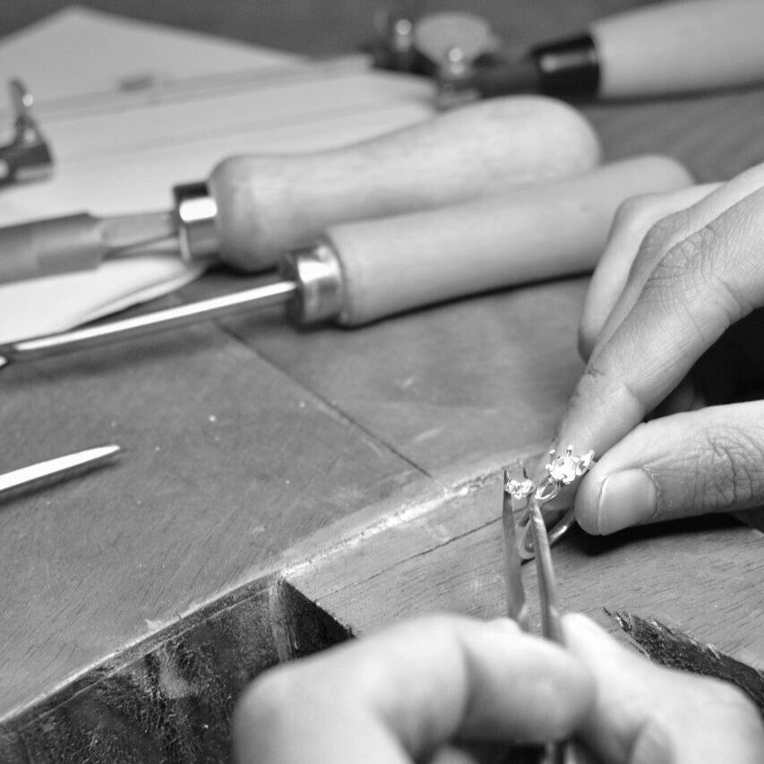 Excellence In Craftsmanship - Driven by our passion for unique designs and excellent craftsmanship the jewellery we create has a lot of heart in it. Each individual piece is made to order just for you so you can have the guarantee we have taken care in every step, allowing us to create something truly exceptional. Explore the creation of a Jewel section to discover how your piece is created.