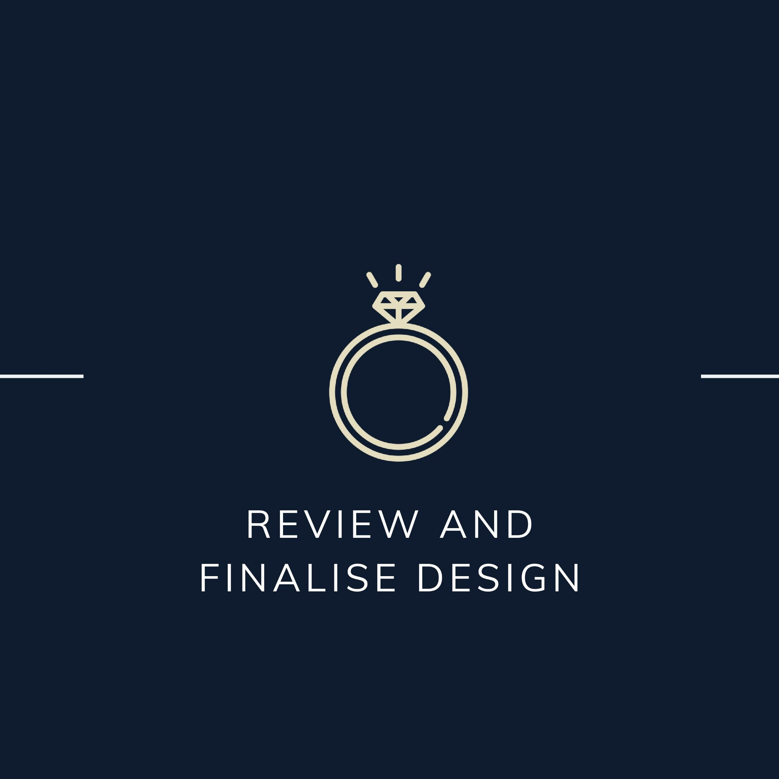 Review and finalise design