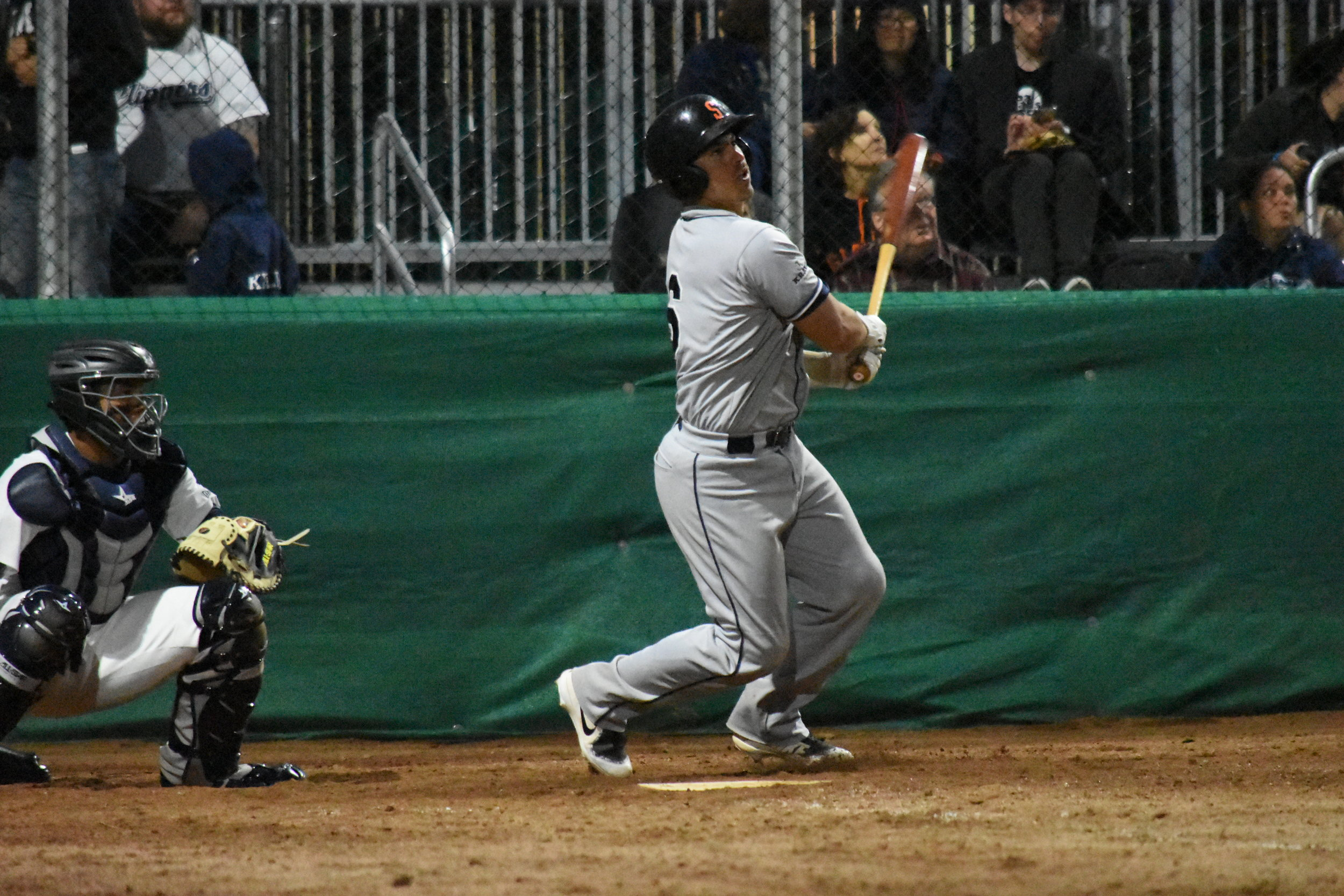 Daniel Comstock hit three home runs in the Sonoma Stompers two-game series against the Martinez Clippers in the former's inaugural games at Joe DiMaggio Field. (James W. Toy III / Sonoma Stompers)