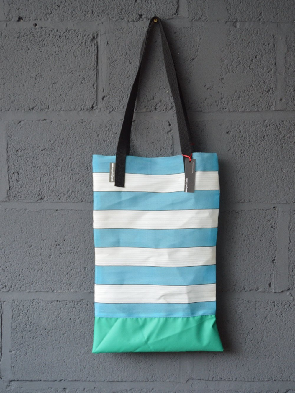 Deckchair Tote - Our deckchair totes have a naturally long line to them, cut to the original width of the chair fabric for less wasteDimensions: W 310mm x H: 500-550mm