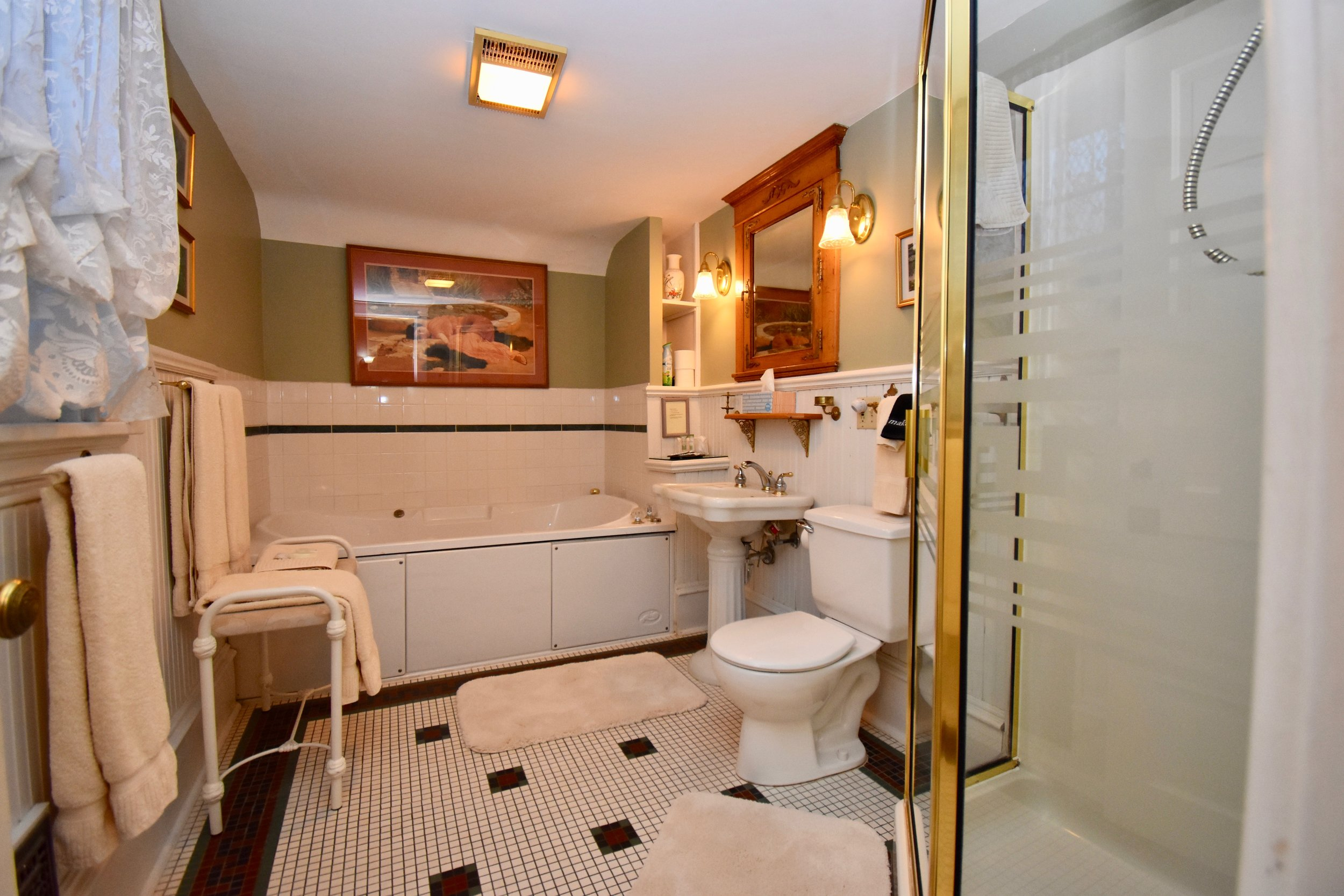 Private Bathroom with Single Whirlpool and Separate Shower