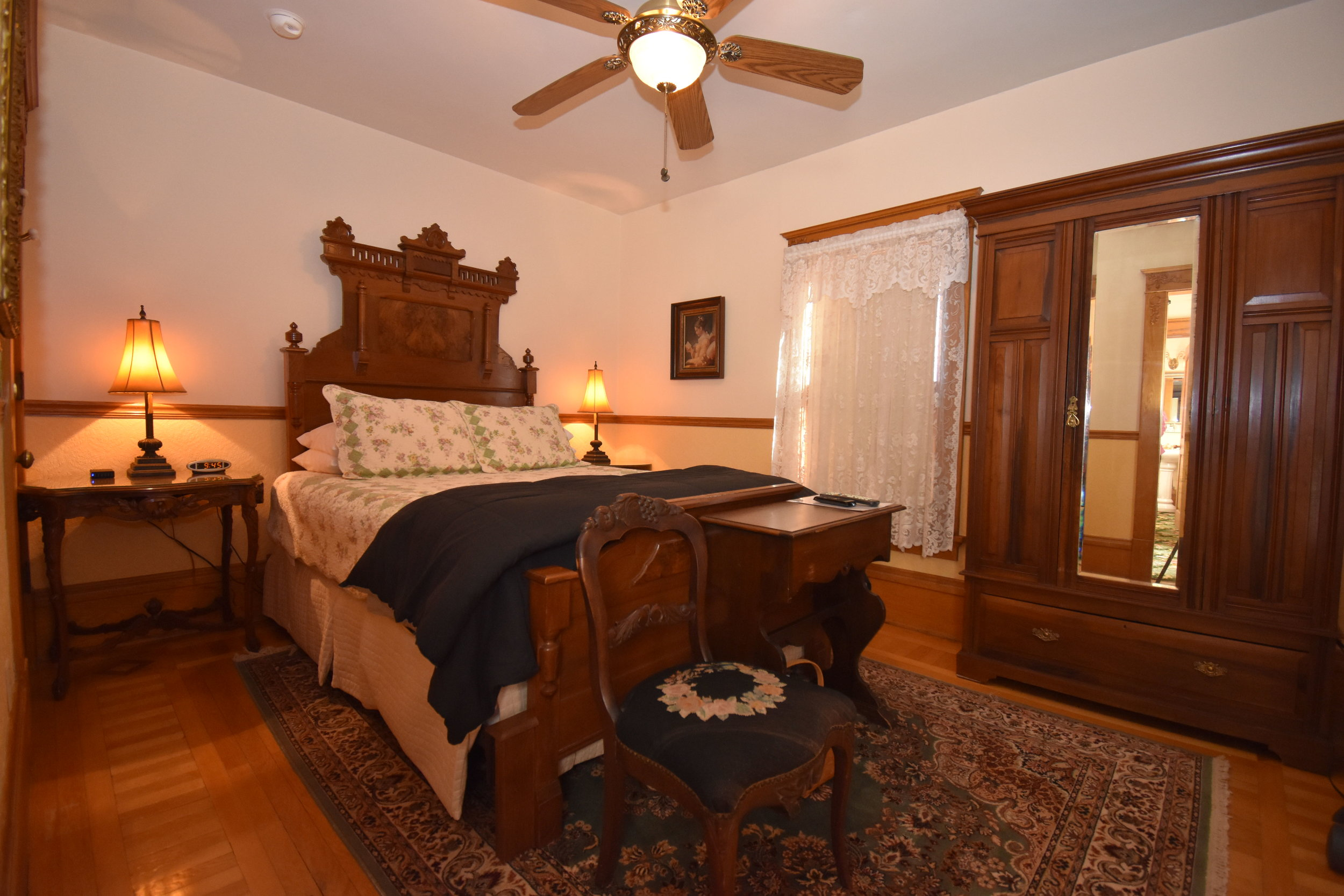 Queen size bed with armoire