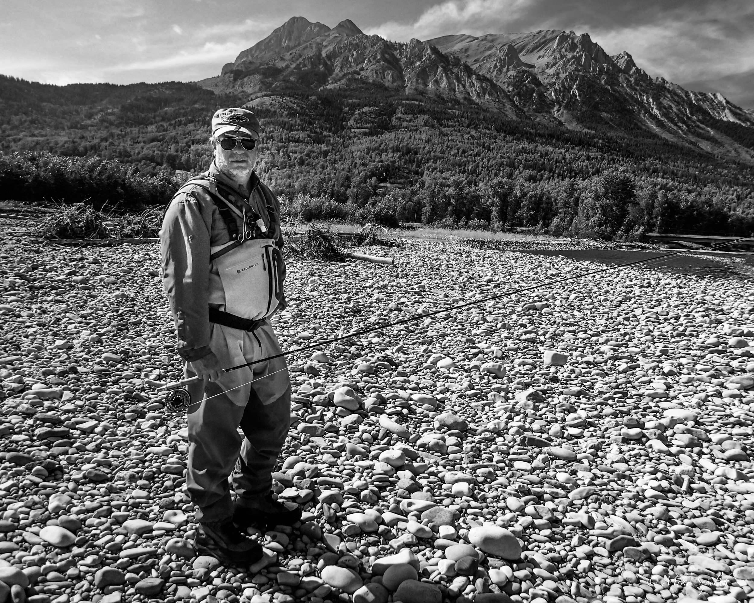 School of Trout  founder Todd Tanner on a recent fishing trip to British Columbia.