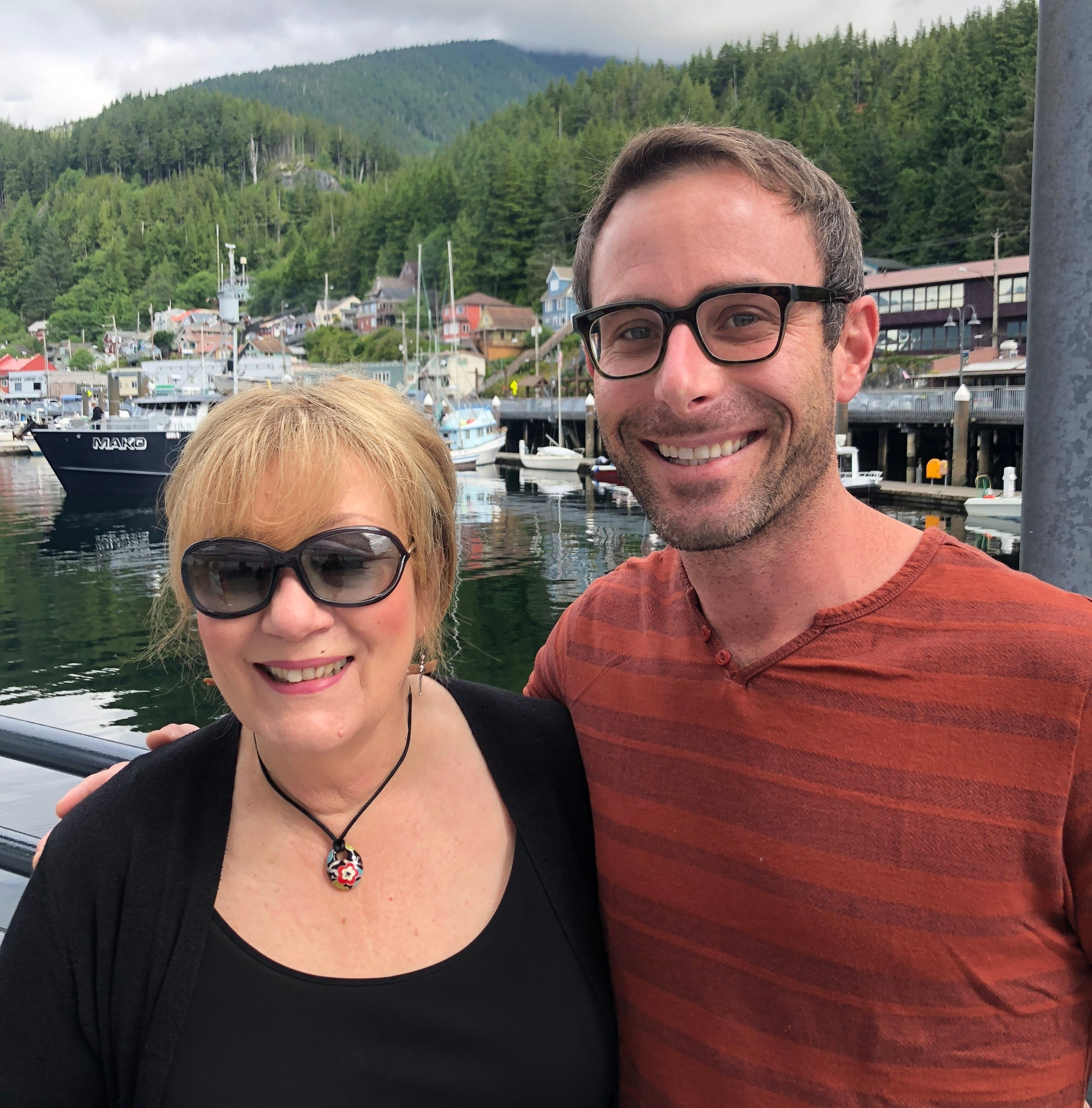 Ester Hicks and Christian at the Abraham Hicks Vortex of Attraction Cruise. July '18 Skagway, AK