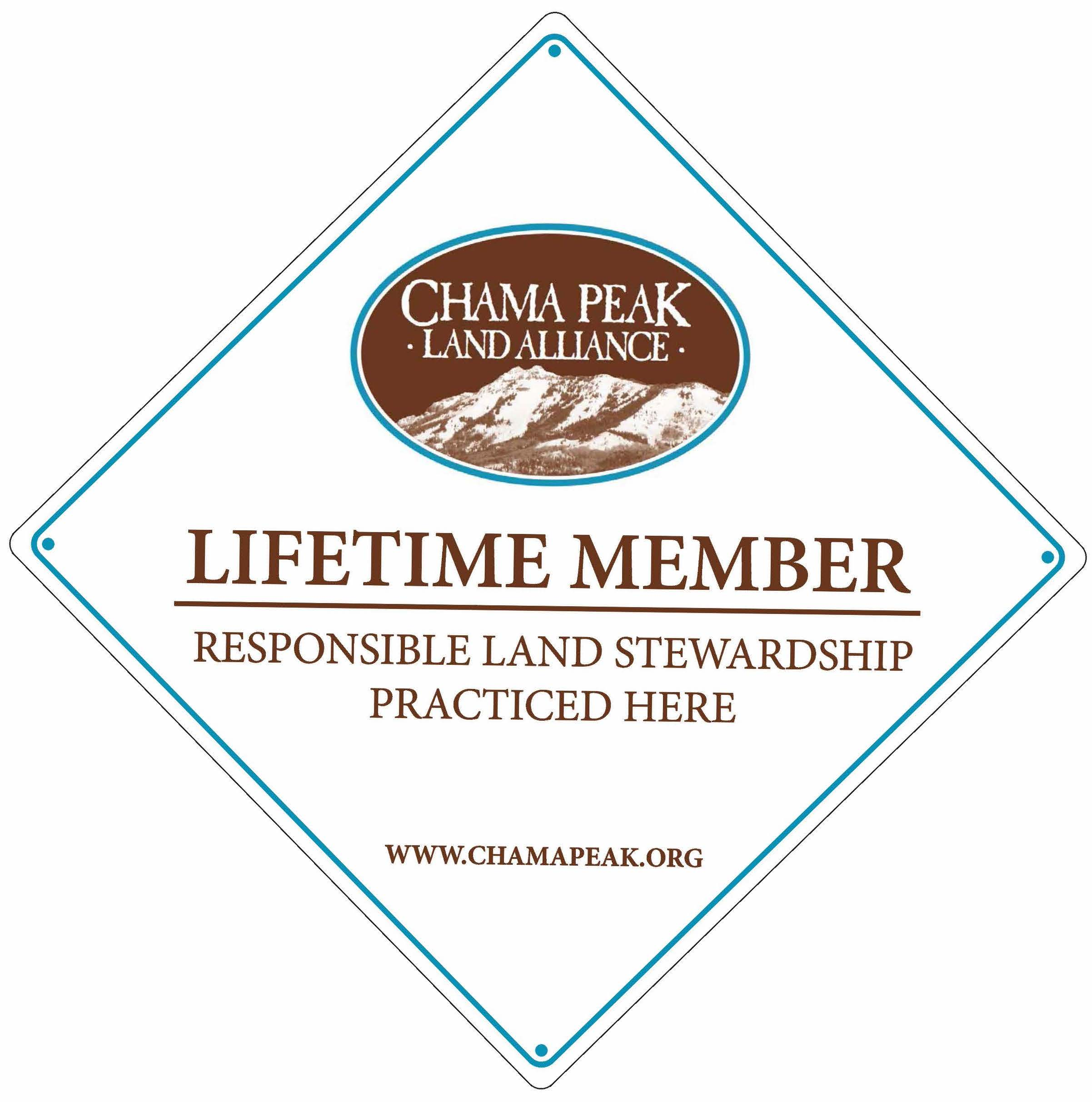 """Display your lifetime's commitment to good land stewardship with this 18""""x18"""" heavy duty aluminum sign, available to Lifetime Members only!"""