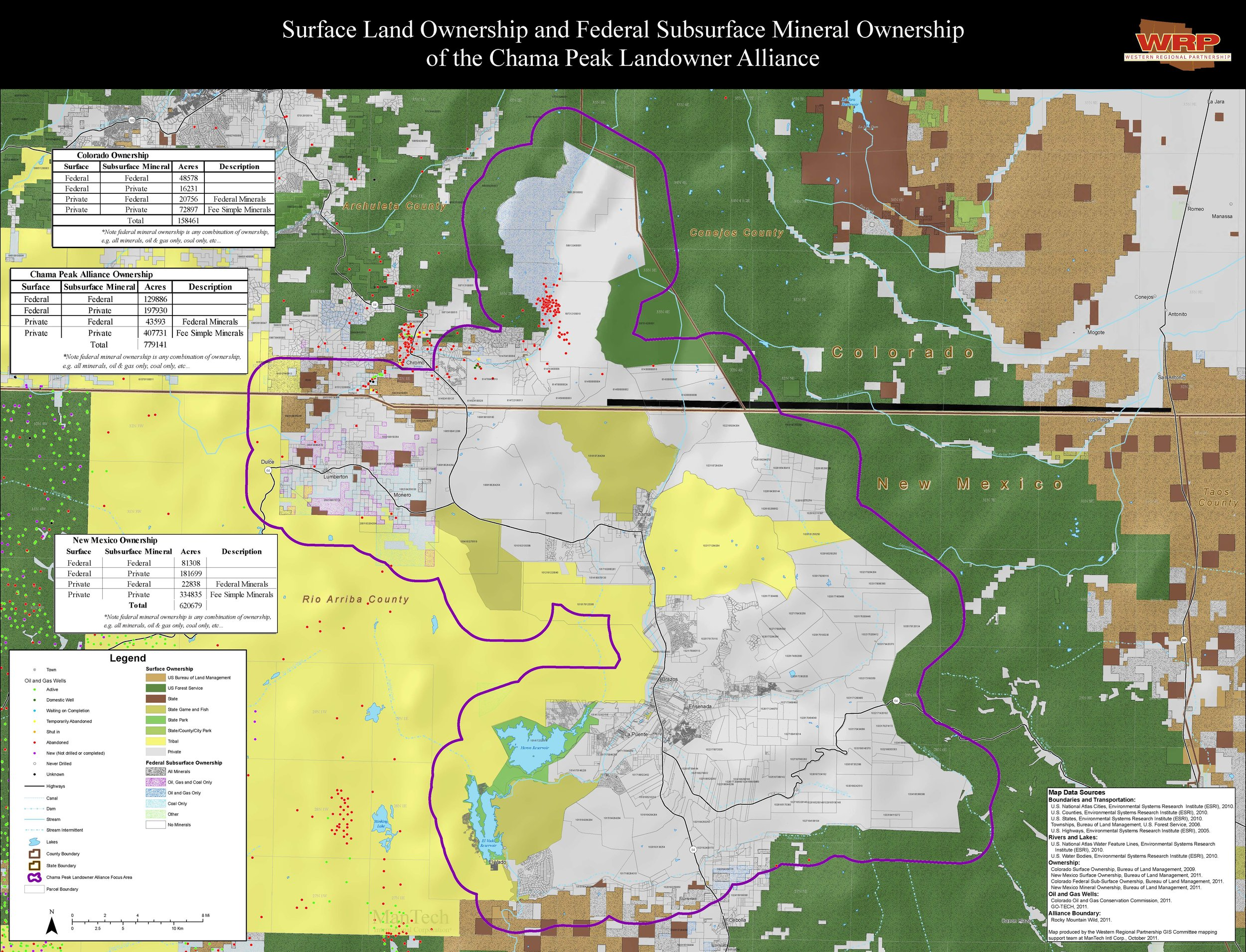 Surface and mineral ownership in the Alliance region, courtesy of the Western Regional Partnership.