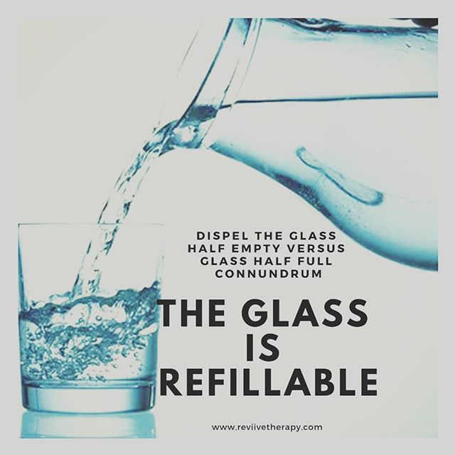 Let's reframe. You can fill the glass.