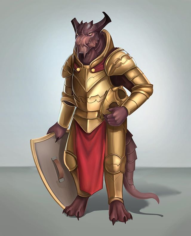 DND commission of a Dragonborn Paladin by the name of Septarius Liberalum. A palace guard turned freelancer. . . . . . . . . . . #dnd #dungeonsanddragons #dungeonsanddragonsart #art #commissionsopen #dndoc #dndcharacter #dnd5e #dragon #dragonborn #paladin #fighter #digitalart #armor #knight #creatureart #creatureconcept #sketch #gameart #fantasy #fantasyartwork #painting #originalcharacterart #commissionedart