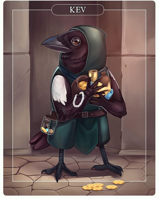 New DND character for a campaign I'm in. Kev the Kenku. He's a rogue magpie who enjoys shiny things. . . . . . . . . #dnd #magpie #rogue #dndrogue #dungeonsanddragons #dnd5e #conceptart #creatureart #kenku #dndkenku #dndart #dndartwork #digitalart #dndoc #illustration #treasure #bird #crow #rpg #tabletopgames #concept #fantasyartwork #ipadpro #clipstudiopaint #dndcharacterart #dndcharacterdesign #illustration