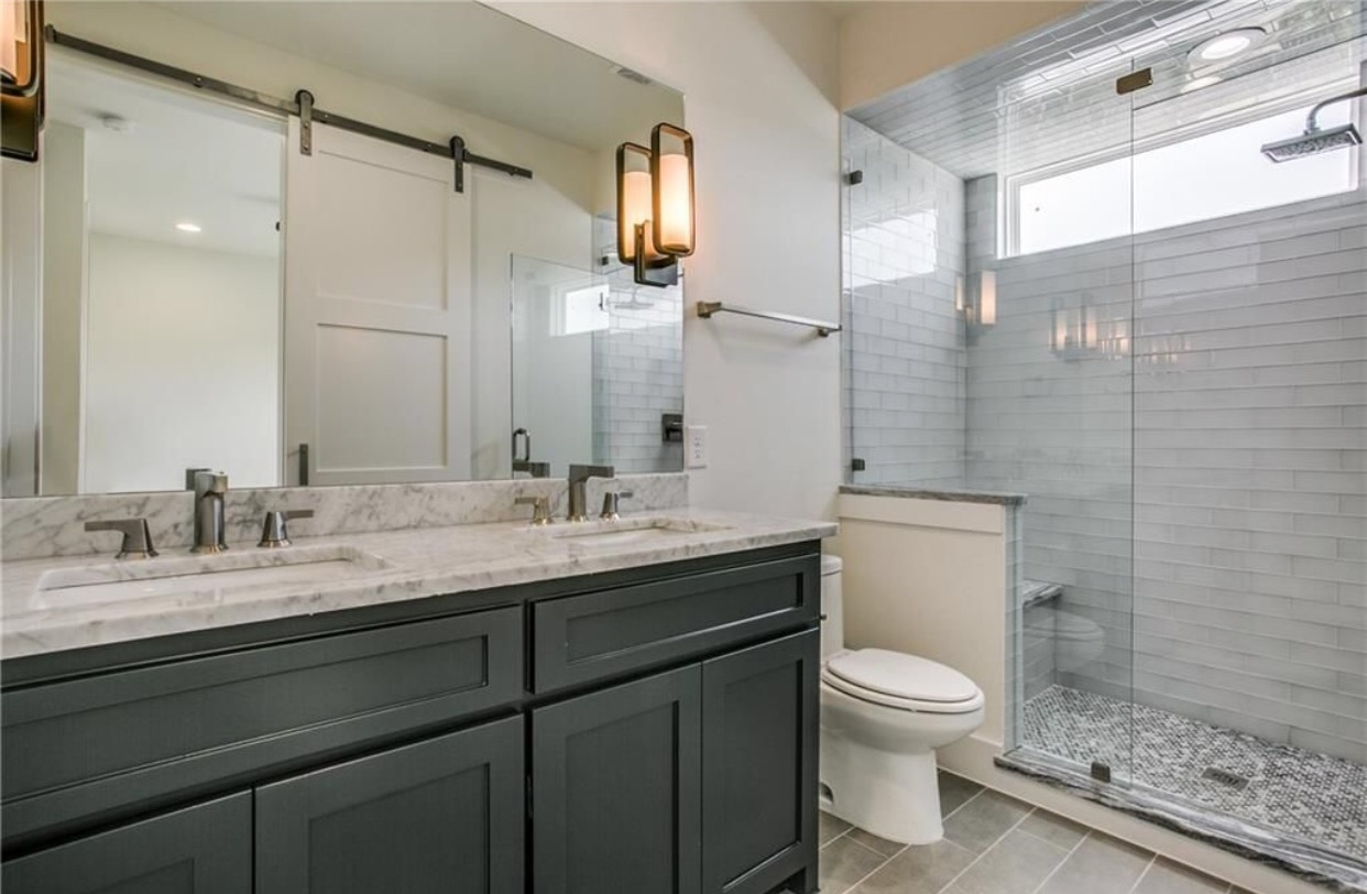 Every inch of space was thoughtfully designed so this compact bathroom feels open and bright.