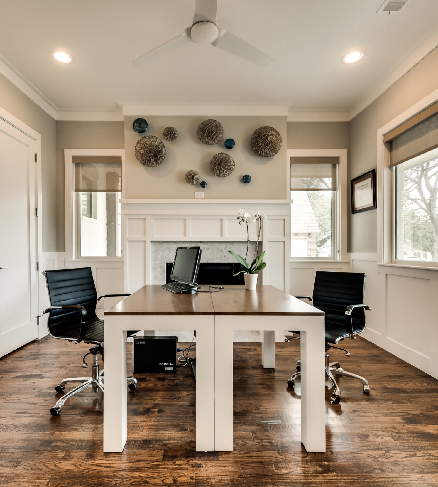 Creating a beautifuly place to work at home can make the late night conference calls a little bit less of a hassle.