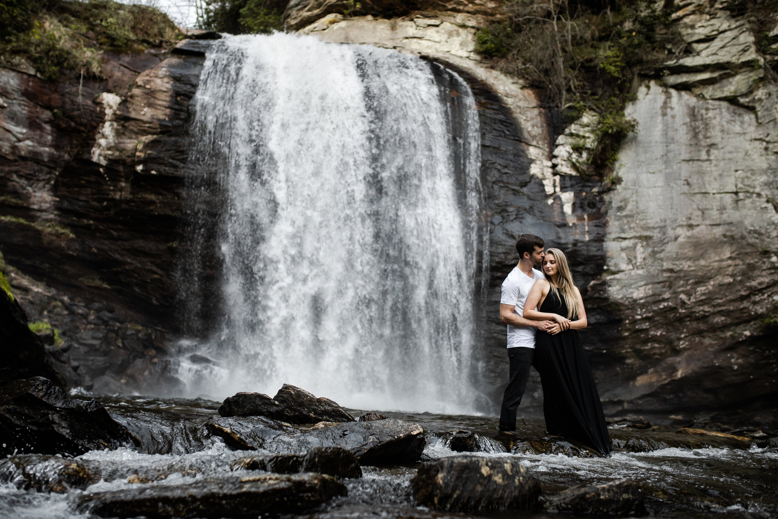 Maleah and Michael's Adventure Session | Looking Glass Falls Brevard, NC